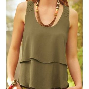 Anthropologie HD in Paris Tank with Cutout detail